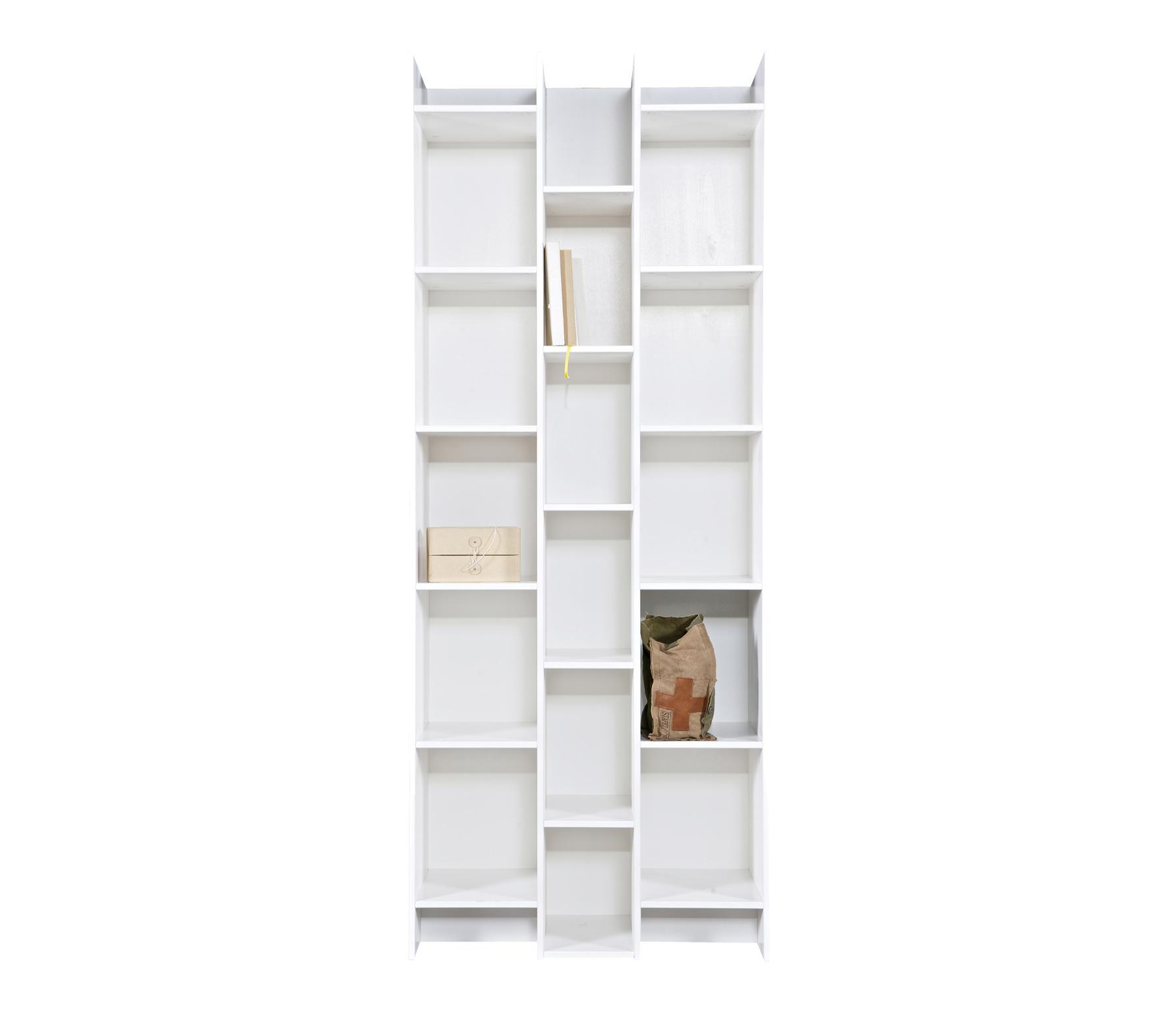 woood expand boekenkast vakkenkast wit grenen standaard