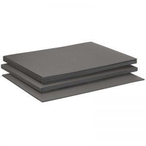 Synthetische ondervloerplaat van XPS schuim geschikt voor laminaat. Dikte: 5 mm