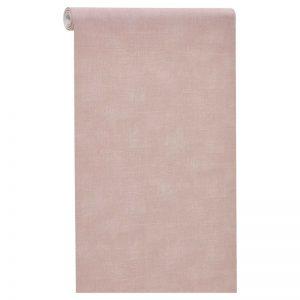 Vliesbehang roze met subtiel ruitdessin. Licht afwasbaar. Voorzien van het FSC-keurmerk. Plakken met Perfax Roll-On. 10 meter per rol.