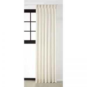 Gordijnstof van luxe off-white materiaal. Sneldrogend en sterk. 142 cm breed.