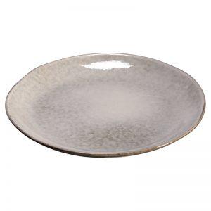Dinerbord grijs met robuuste look. 28 cm doorsnede.