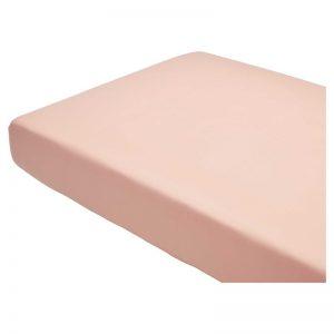 Hoeslaken van katoen in de kleur roze. 2-persoons. 180x200 cm (bxl).