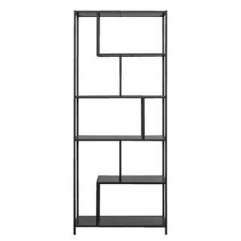 Kast Jaxx - zwart - 185x77x35 cm - Leen Bakker