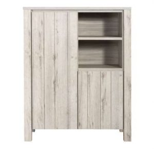 Kast Jens - grijs eiken - 150x118x50 cm - Leen Bakker