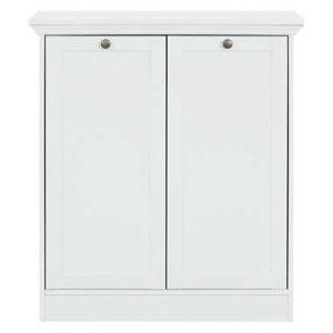 Kast Vera 2-deurs - wit - 90x80x35 cm - Leen Bakker