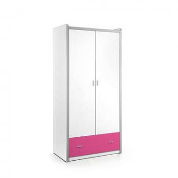 Vipack 2-deurs kledingkast Bonny - fuchsia - 202x97x60 cm - Leen Bakker