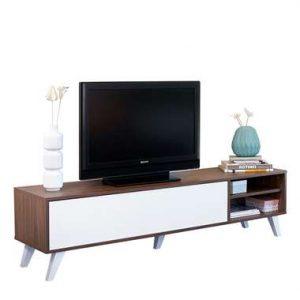 Symbiosis TV-meubel Heidal - walnootkleur/wit - 43