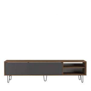 Symbiosis TV-meubel Lardal - walnootkleur/grijs - 43