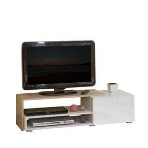 Symbiosis TV-meubel Astrup - wit/eiken - 32x120x42 cm - Leen Bakker