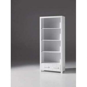 Vipack boekenkast Erik - wit - 205x87x39 cm - Leen Bakker