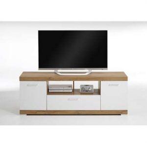 TV-Meubel Bristol - oud eikenkleur/wit edelglans - 160x59x42 cm - Leen Bakker