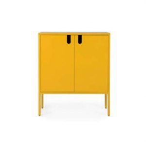 Tenzo wandkast Uno 2-deurs - mosterd - 89x76x40 cm - Leen Bakker