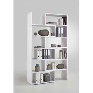 Boekenkast Clifton uitschuifbaar - wit - 84x40x221 cm - Leen Bakker