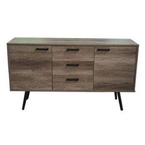 TV-dressoir Sisco - bruin/zwart - 84x150x39