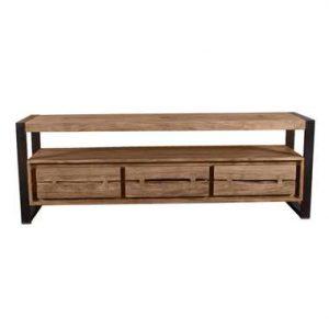 TV-meubel Osani - naturel/zwart - 55x160x40 cm - Leen Bakker