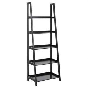 Boekenkast Edsele - zwart - 180x63x40 cm - Leen Bakker