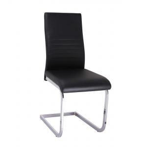 Super voordelig en toch uitgevoerd in een prima kwaliteit ! Het verende chroomkleurige onderstel en de leatherlook bekleding geven deze stoel een modern karakter. De zwarte luxe leatherlook is super sterk en zeer onderhoudsvriendelijk. Een echte aanrader! Deze stoelen zijn uitlsuitend per set van 4 te bestellen.