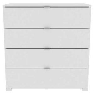 Demeyere dressoir Perfect 4 lades - wit - 82x120x42 cm - Leen Bakker