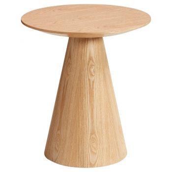 Bijzettafel met naturel houtlook
