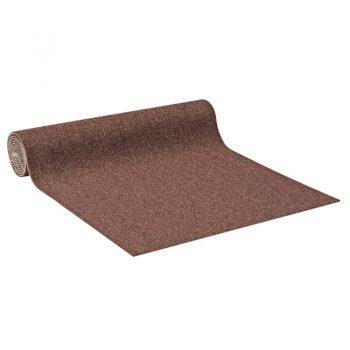 Slijtvast tapijt donkerbruin met actionback rug