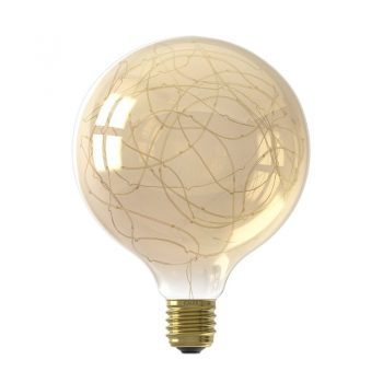 Ledlamp met goudkleurige lichtslinger in de lichtbol. 1