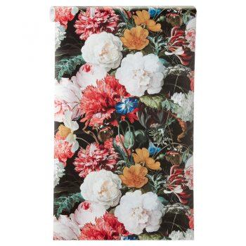 Vliesbehang met vrolijke bloemenprint. Plakken met Perfax Roll-On.