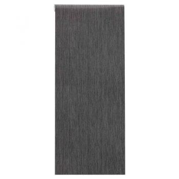 Vliesbehang met antraciet kleur en subtiel streepdessin. Licht afwasbaar. Voorzien van het FSC keurmerk. 10 meter per rol.