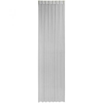Soepele vitrage in off-white kleur. 150 cm hoog.