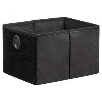 Moderne en sfeervolle mand van zwart velours. Vouwbaar. Afmeting 26x32x18 cm (lxbxh).