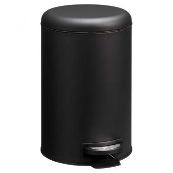 Mat zwarte pedaalemmer. 12 liter.
