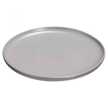 Ontbijtbord van grijs porselein. 21x1