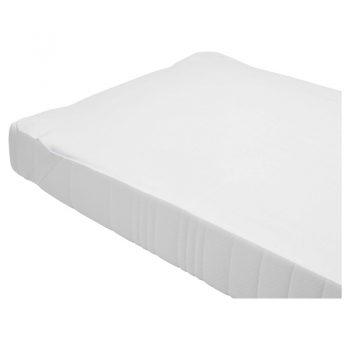 Deze katoenen matrasbeschermer is in de kleur wit. Waterdicht. 2-persoons. Afmeting: 180x200 cm (bxl).