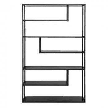Boekenkast Teun 6 vakken - zwart - 188x120x35 centimeter - Leen Bakker