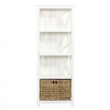 Boekenkast Valerie - off-white - 160x60x35 cm - Leen Bakker