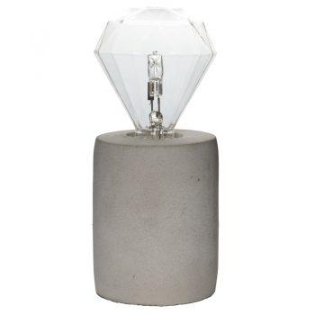 Stijlvolle tafellamp Charis van beton. Voorzien van een grote fitting