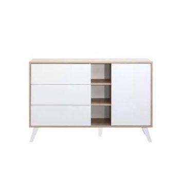 Symbiosis dressoir Heidal - eikenkleur/wit - 79