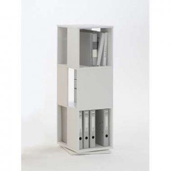Kast draaibaar Tower - wit - 108x34x34 cm - Leen Bakker