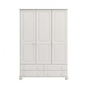 Kledingkast Richmond 3-deurs - wit - 185