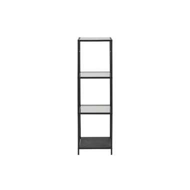 Vitrinekast Jelling - glas/zwart - 119