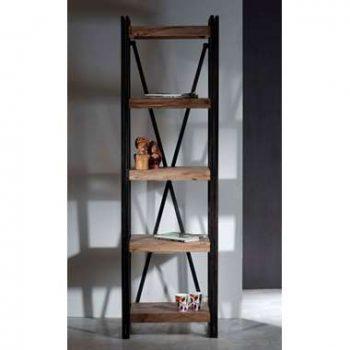 Boekenkast Quin - bruin - 200x60x40 cm - Leen Bakker