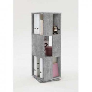 Kast draaibaar Tower - betonkleur - 34x108x34 cm - Leen Bakker