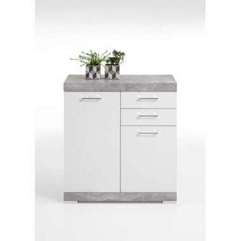 Commode Bristol XL - betonkleur/wit edelglans - 89