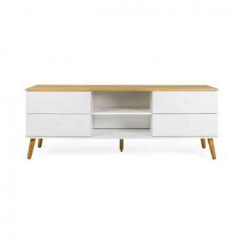 Tenzo tv-meubel Dot - wit/eiken - 60x162x43 cm - Leen Bakker