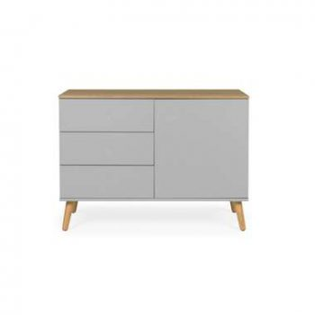Tenzo dressoir Dot - grijs/eiken - 79x109x43 cm - Leen Bakker