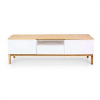 Tenzo tv-meubel Patch - eikenkleur/wit/eikenkleur - 56x179x47 cm - Leen Bakker