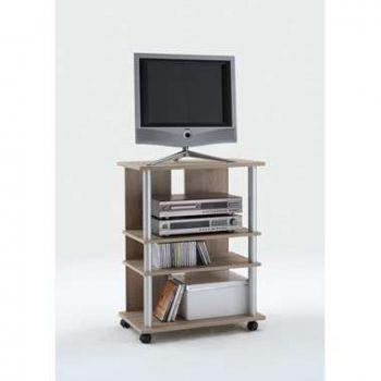 Tv-meubel Tilton hoog - eikenkleur - 65x85x40 cm - Leen Bakker