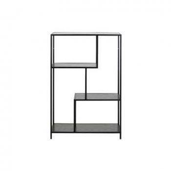 Boekenkast Jaxx - zwart - 114x77x35 cm - Leen Bakker