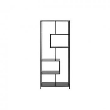 Boekenkast Jaxx - zwart - 185x77x35 cm - Leen Bakker