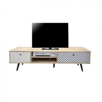 TV-meubel Azoia - whitewash - 40x150x39 cm - Leen Bakker