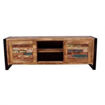 TV-meubel Gela - naturel/multikleur - 55x160x40 cm - Leen Bakker